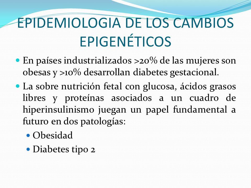 EPIDEMIOLOGIA DE LOS CAMBIOS EPIGENÉTICOS
