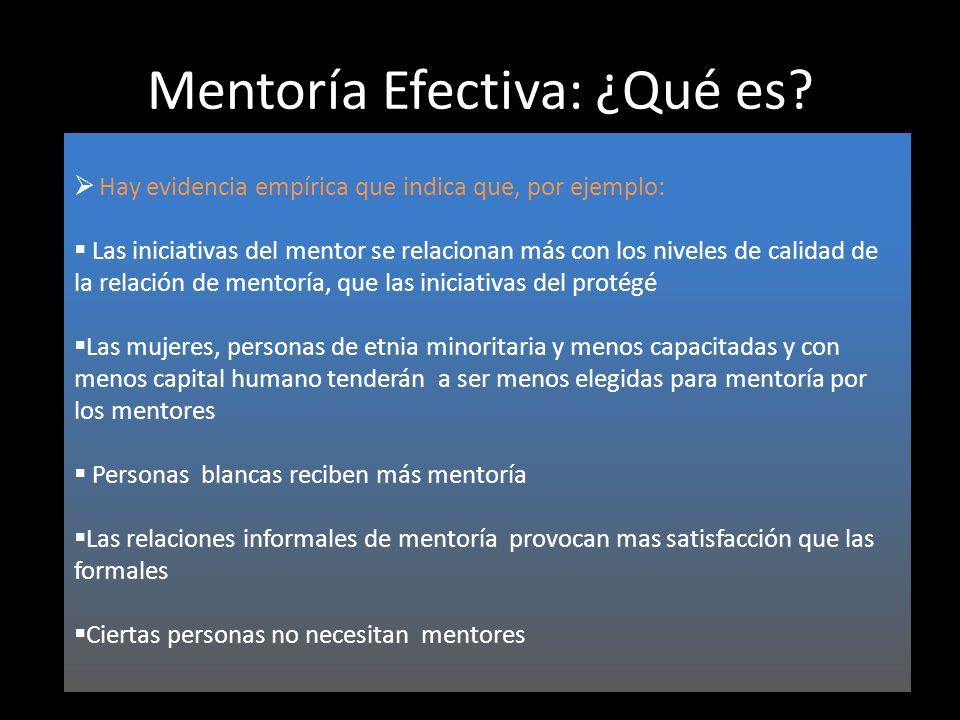 Mentoría Efectiva: ¿Qué es