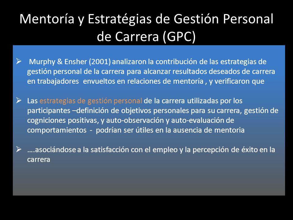 Mentoría y Estratégias de Gestión Personal de Carrera (GPC)