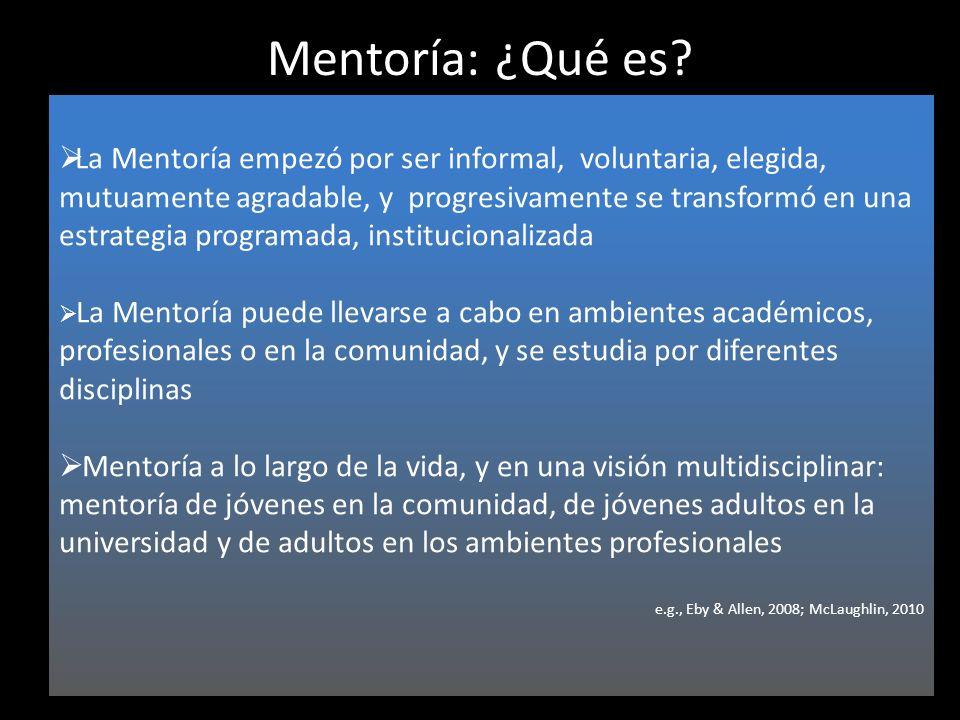 Mentoría: ¿Qué es