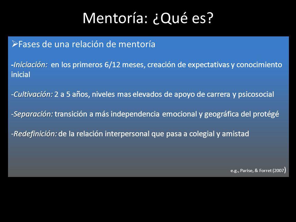 Mentoría: ¿Qué es Fases de una relación de mentoría
