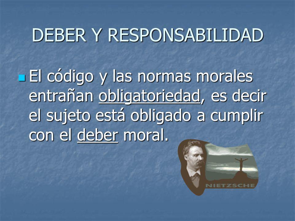 DEBER Y RESPONSABILIDAD
