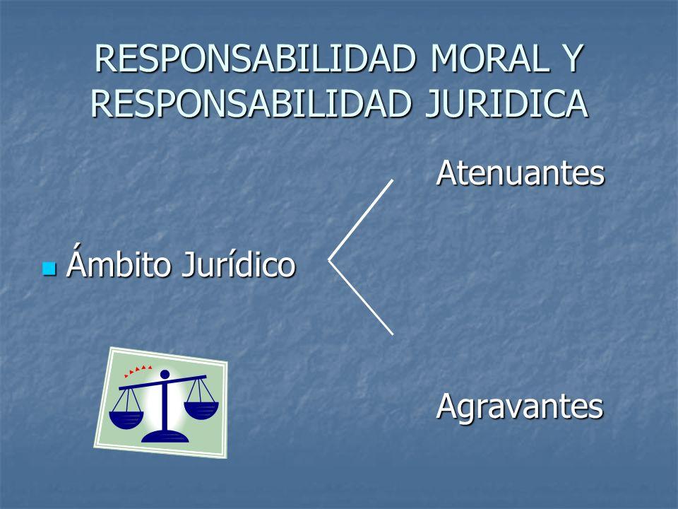 RESPONSABILIDAD MORAL Y RESPONSABILIDAD JURIDICA
