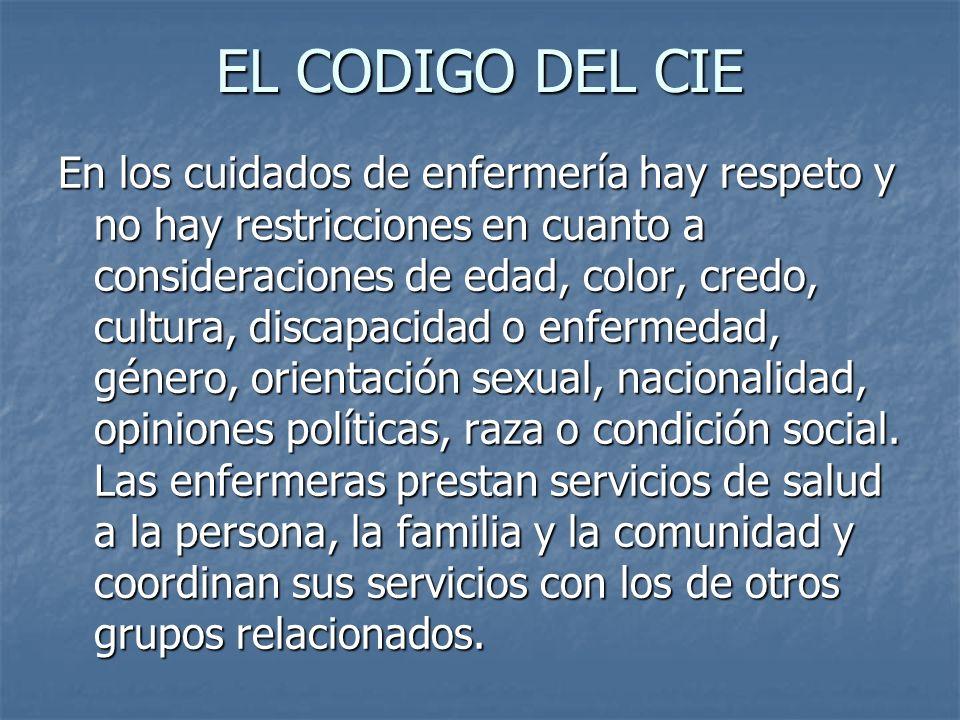 EL CODIGO DEL CIE