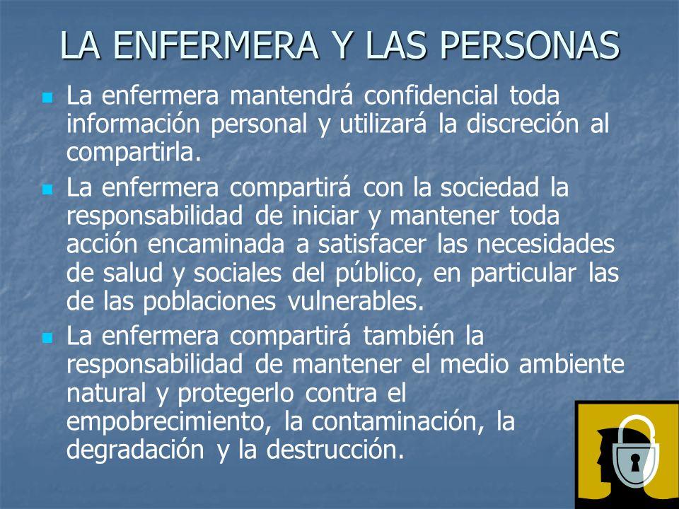 LA ENFERMERA Y LAS PERSONAS