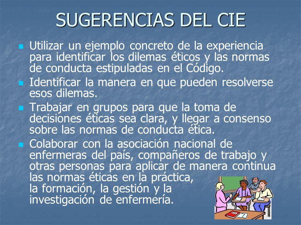 SUGERENCIAS DEL CIE
