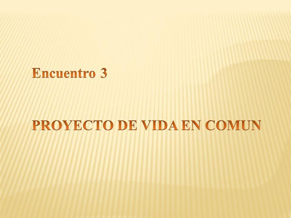 Encuentro 3 PROYECTO DE VIDA EN COMUN
