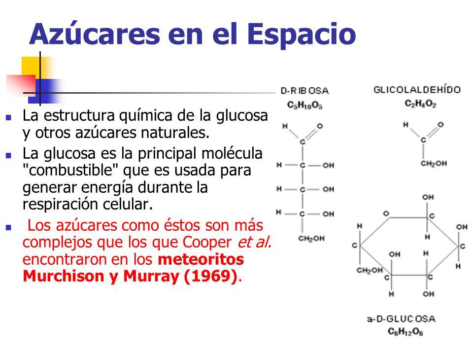 Azúcares en el Espacio La estructura química de la glucosa y otros azúcares naturales.
