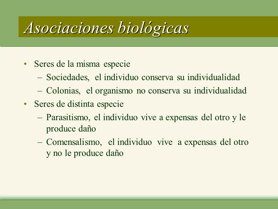 Asociaciones biológicas