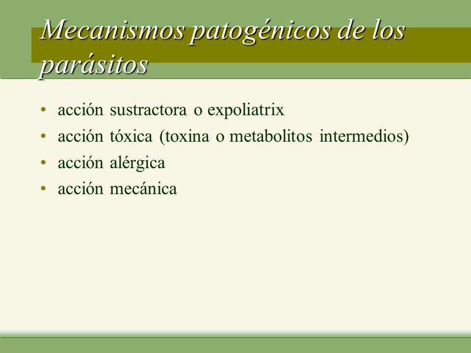 Mecanismos patogénicos de los parásitos