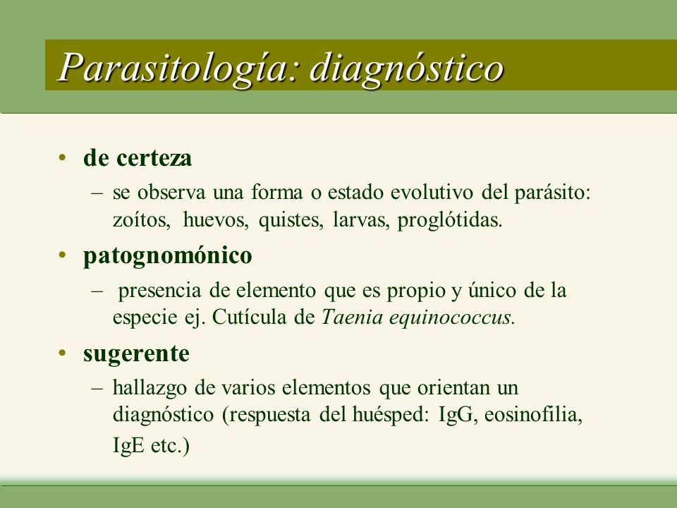Parasitología: diagnóstico