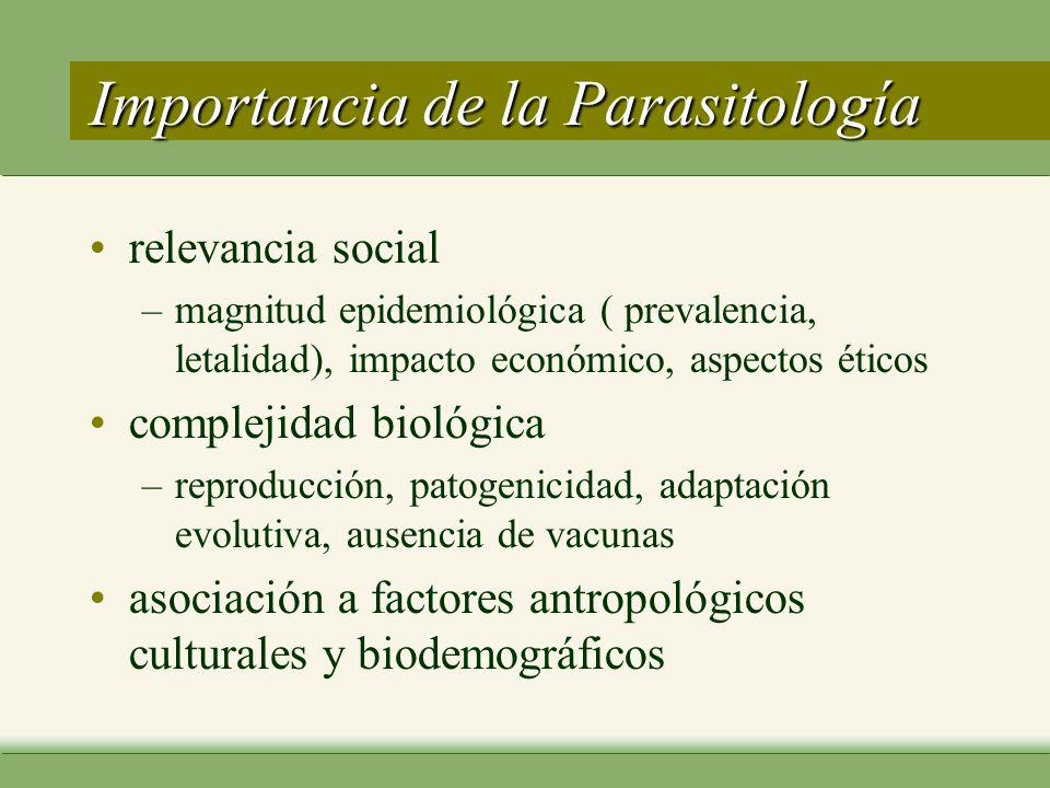 Importancia de la Parasitología