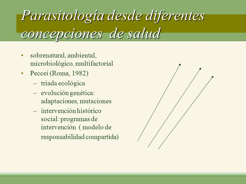 Parasitología desde diferentes concepciones de salud