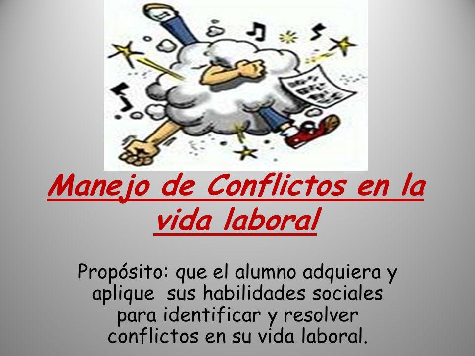 Manejo de Conflictos en la vida laboral