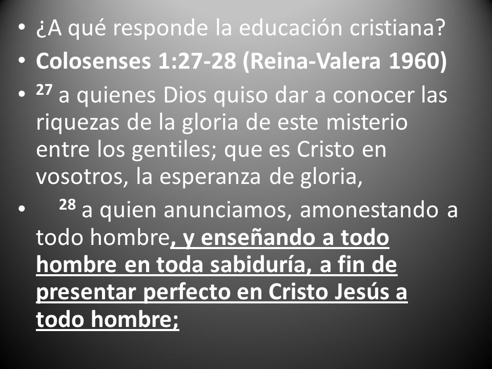 ¿A qué responde la educación cristiana