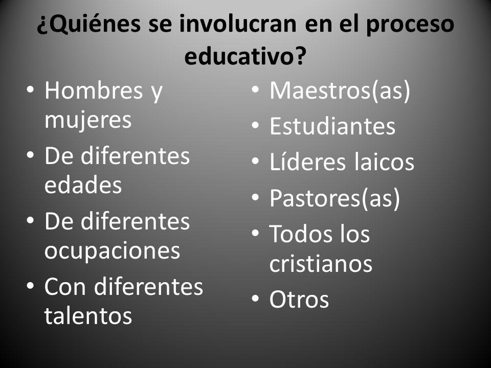 ¿Quiénes se involucran en el proceso educativo