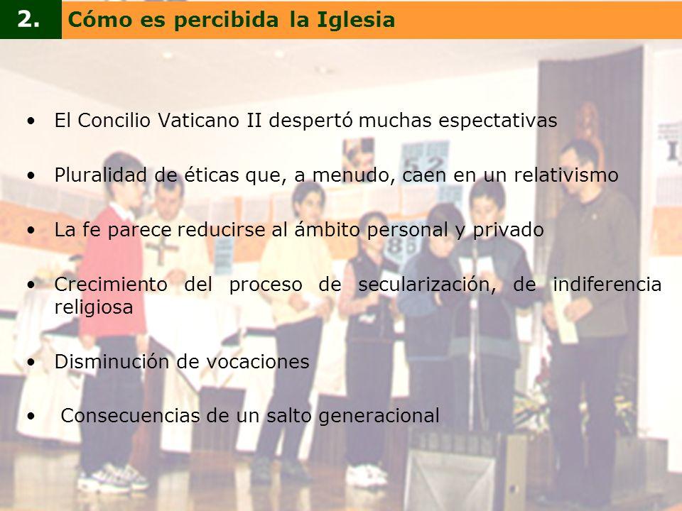 2. Cómo es percibida la Iglesia