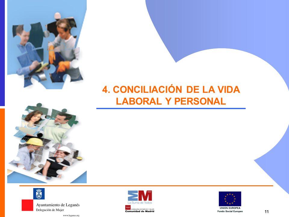 4. CONCILIACIÓN DE LA VIDA LABORAL Y PERSONAL