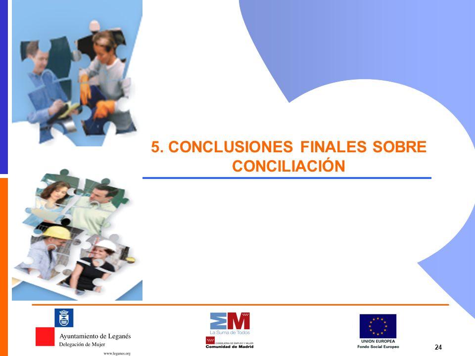 5. CONCLUSIONES FINALES SOBRE CONCILIACIÓN