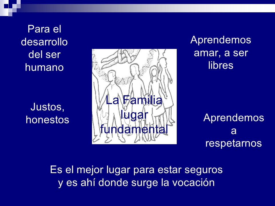 La Familia lugar fundamental