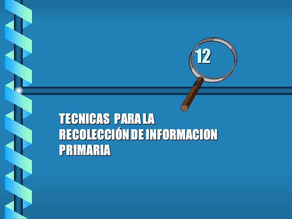 TECNICAS PARA LA RECOLECCIÓN DE INFORMACION PRIMARIA