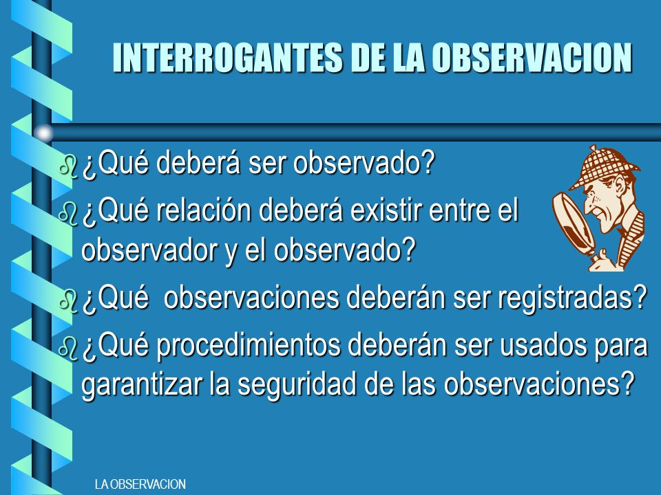 INTERROGANTES DE LA OBSERVACION
