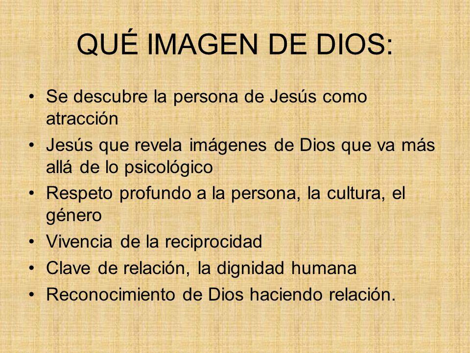 QUÉ IMAGEN DE DIOS: Se descubre la persona de Jesús como atracción
