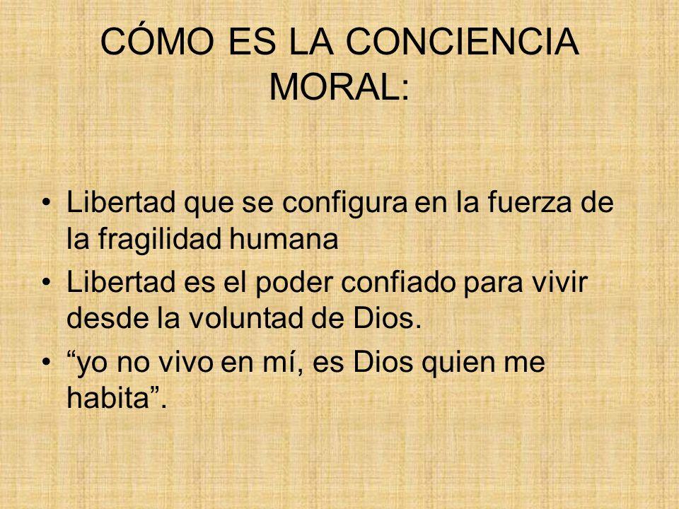CÓMO ES LA CONCIENCIA MORAL: