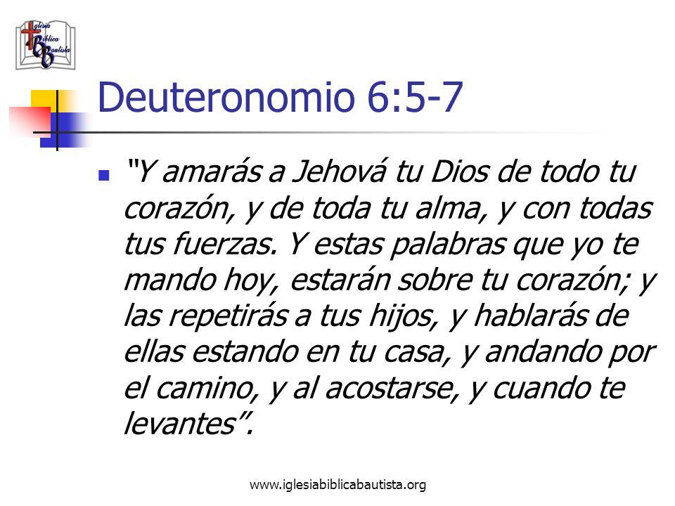 Deuteronomio 6:5-7