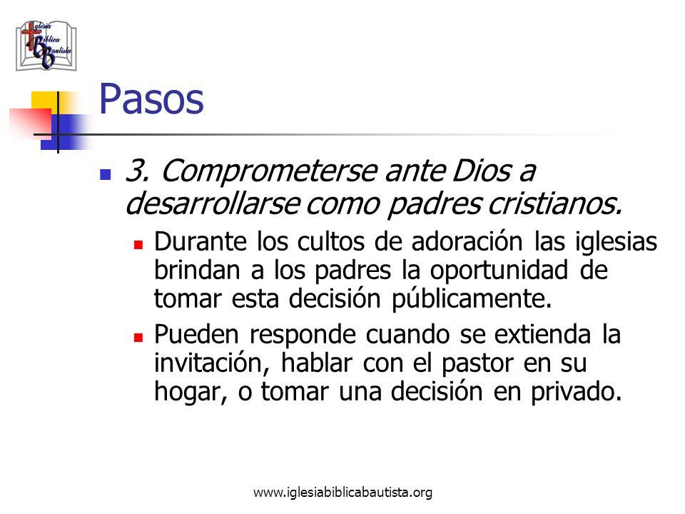 Pasos 3. Comprometerse ante Dios a desarrollarse como padres cristianos.
