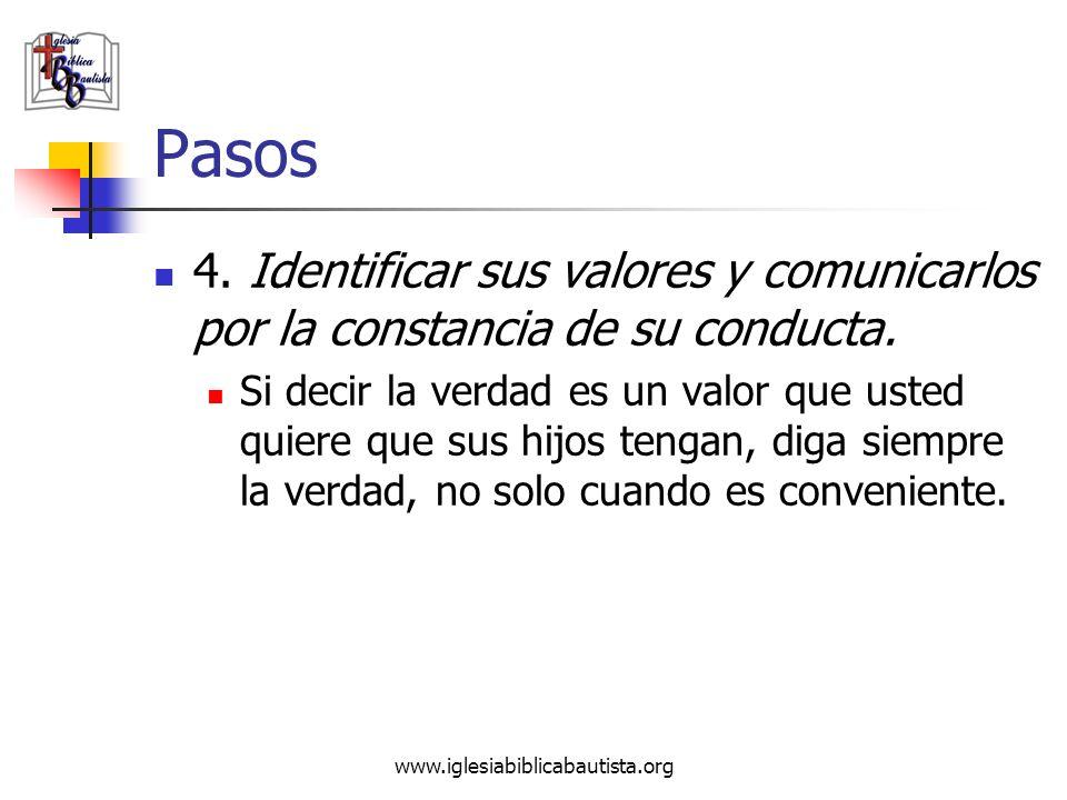 Pasos 4. Identificar sus valores y comunicarlos por la constancia de su conducta.