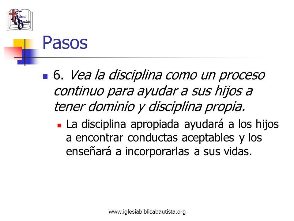 Pasos 6. Vea la disciplina como un proceso continuo para ayudar a sus hijos a tener dominio y disciplina propia.