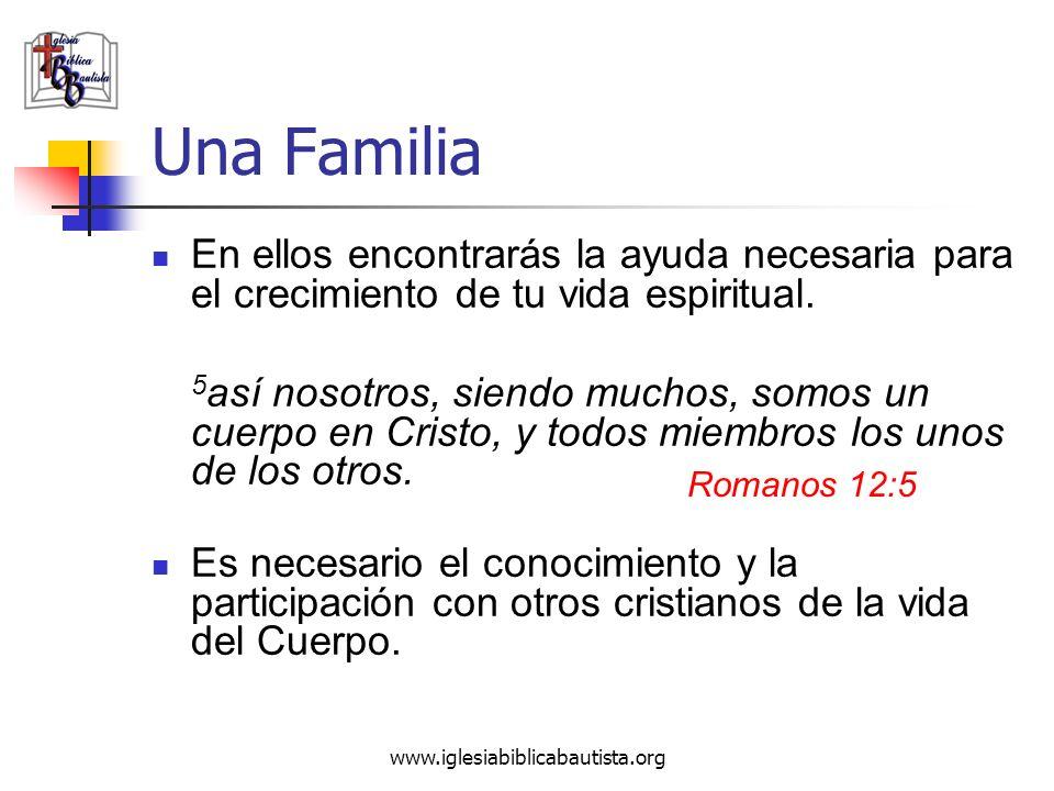 Una Familia En ellos encontrarás la ayuda necesaria para el crecimiento de tu vida espiritual.