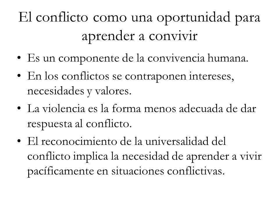 El conflicto como una oportunidad para aprender a convivir