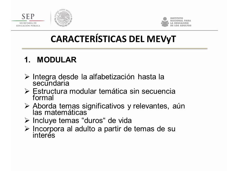 CARACTERÍSTICAS DEL MEVyT
