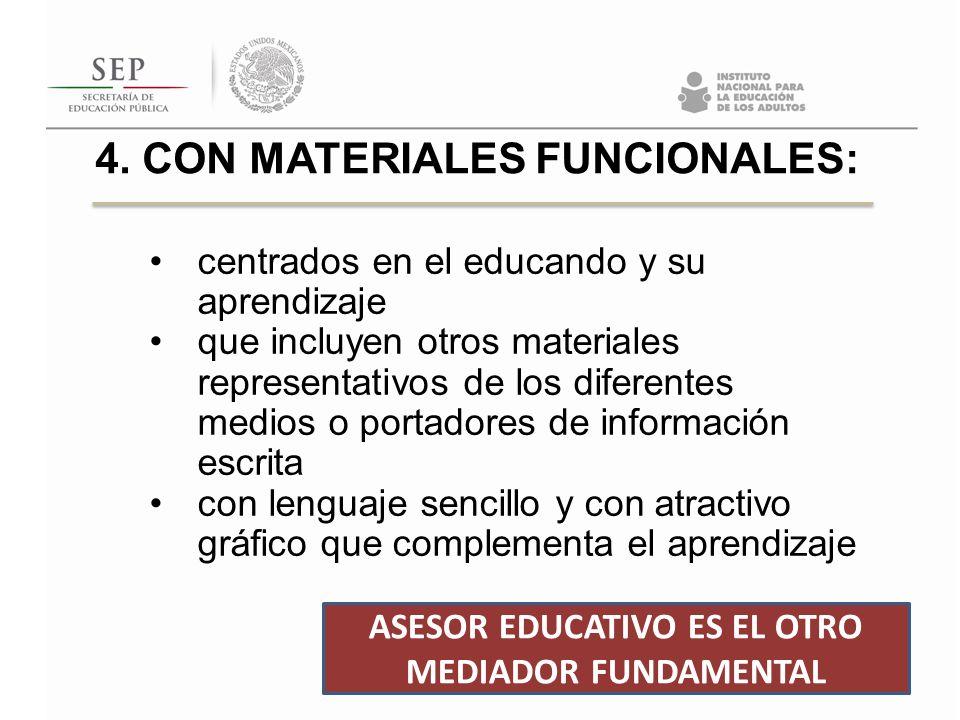 4. CON MATERIALES FUNCIONALES: