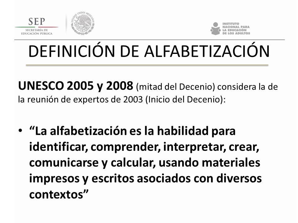 DEFINICIÓN DE ALFABETIZACIÓN