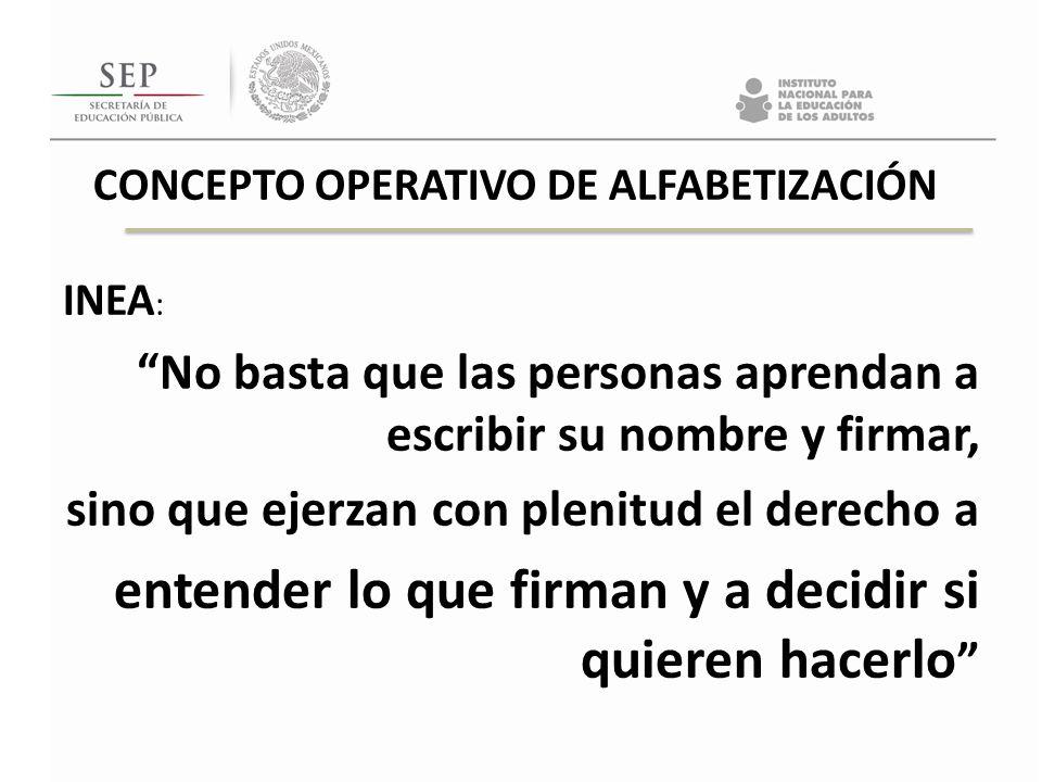 CONCEPTO OPERATIVO DE ALFABETIZACIÓN