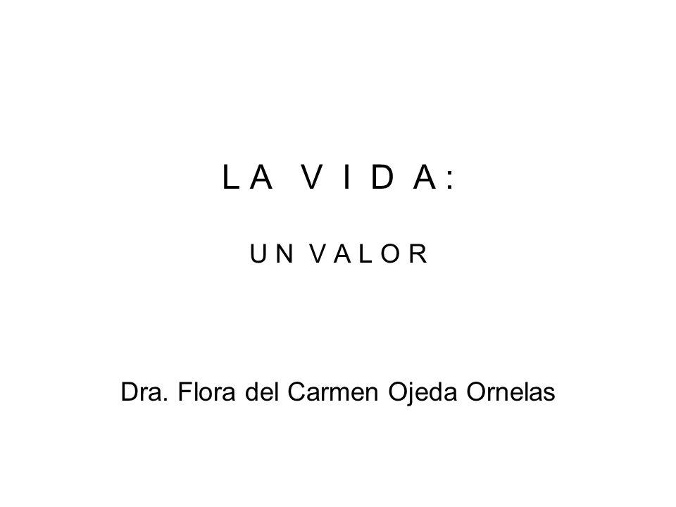 Dra. Flora del Carmen Ojeda Ornelas