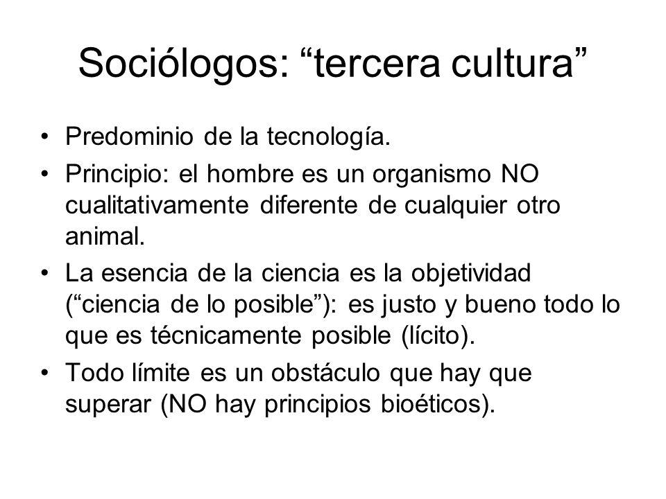 Sociólogos: tercera cultura
