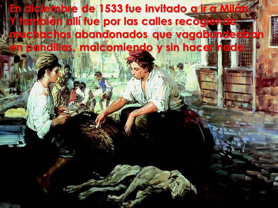En diciembre de 1533 fue invitado a ir a Milán.