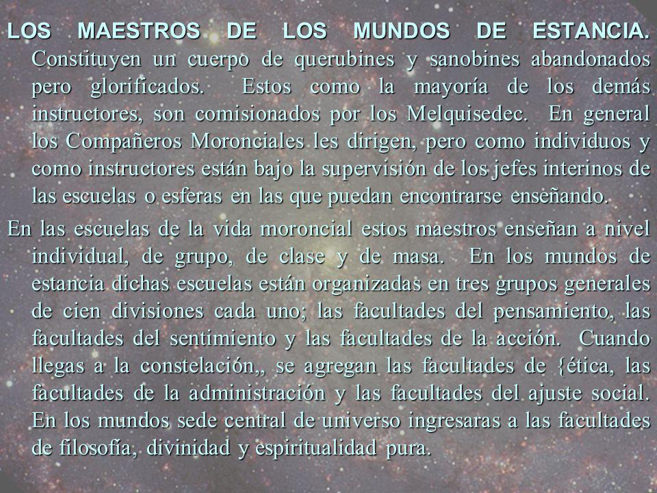 LOS MAESTROS DE LOS MUNDOS DE ESTANCIA