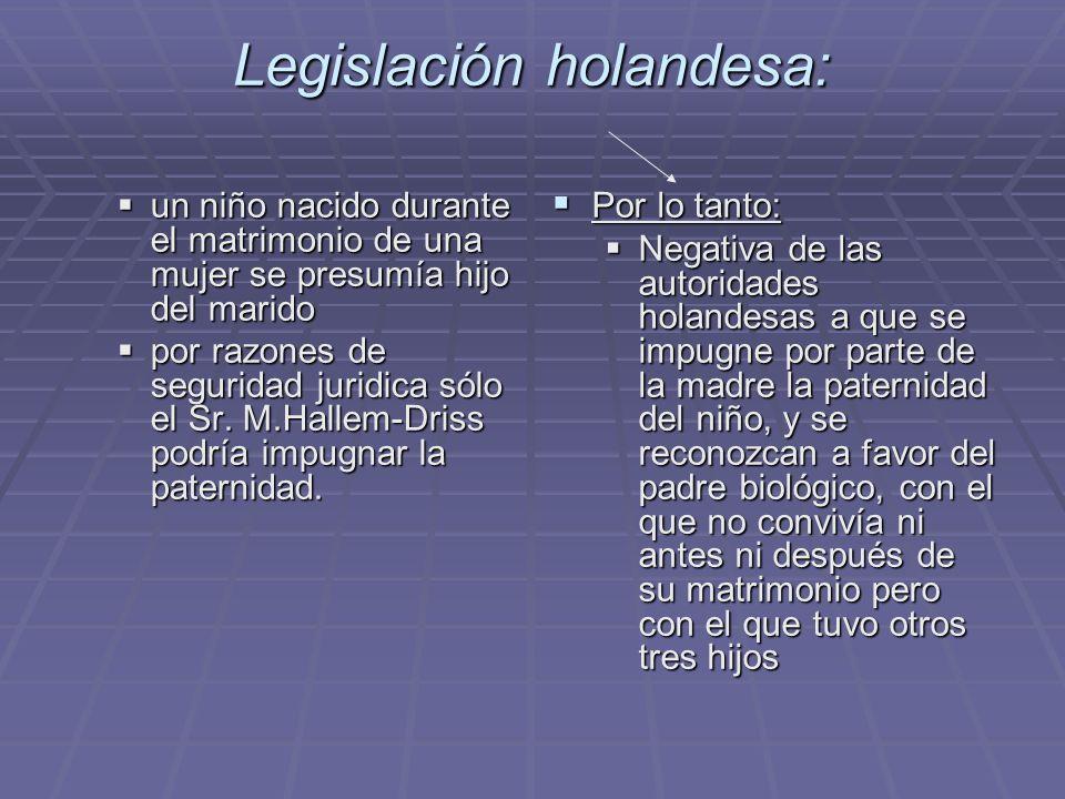 Legislación holandesa:
