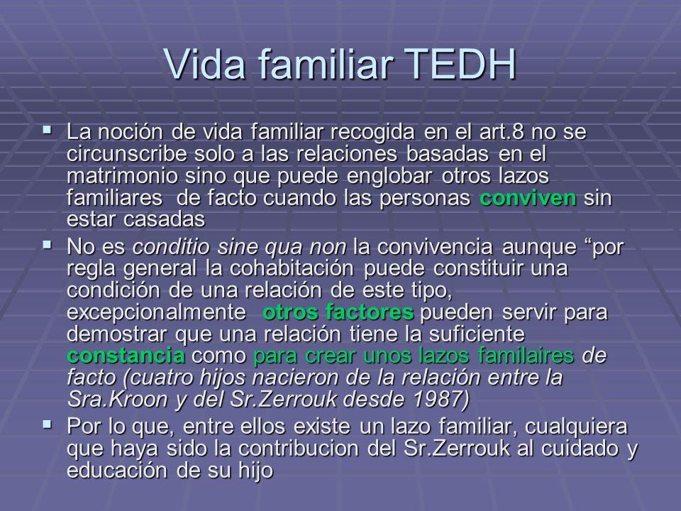 Vida familiar TEDH
