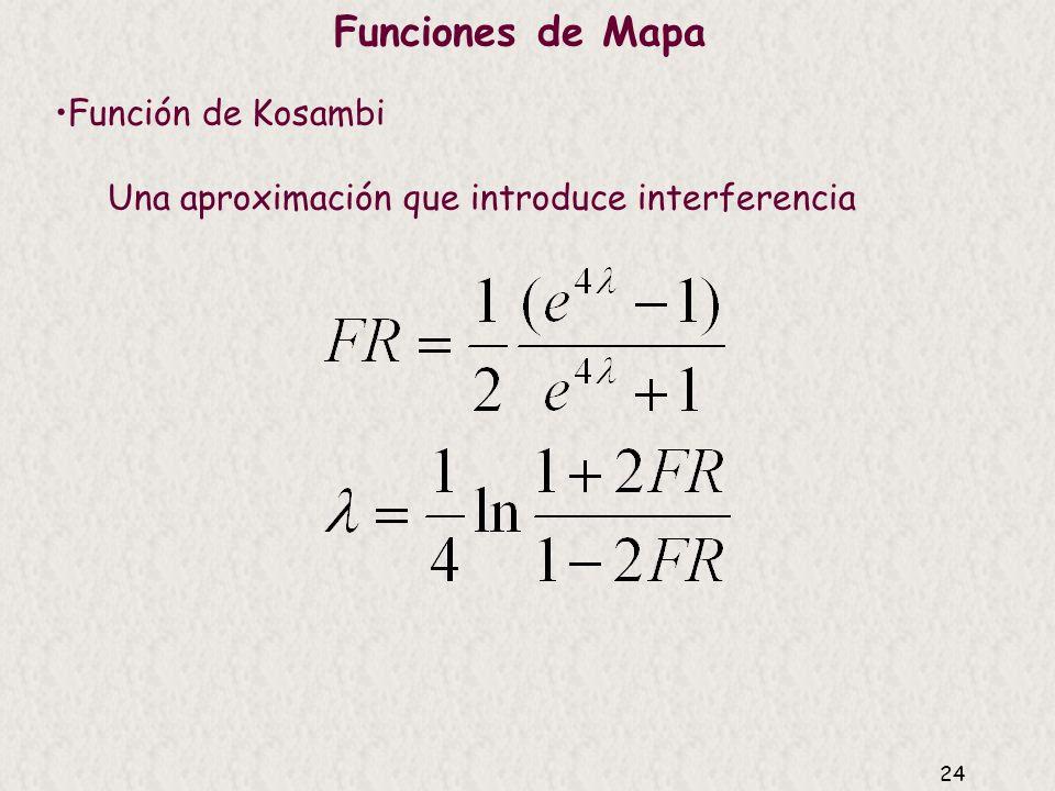 Funciones de Mapa Función de Kosambi