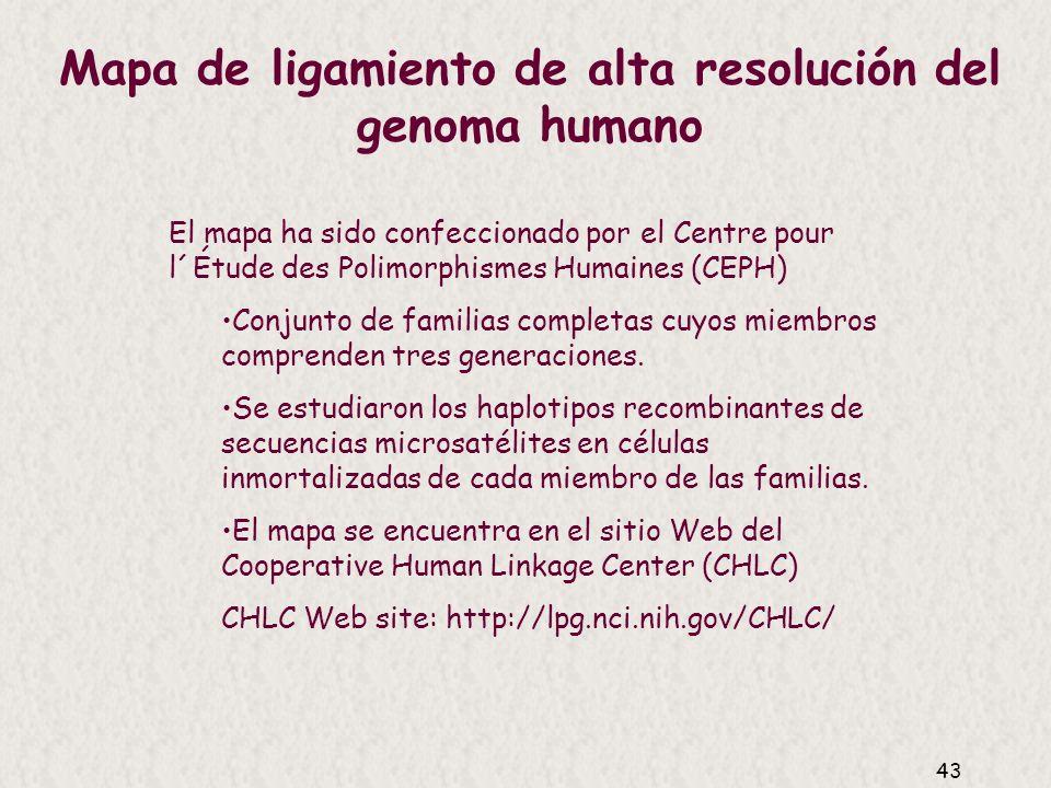 Mapa de ligamiento de alta resolución del genoma humano