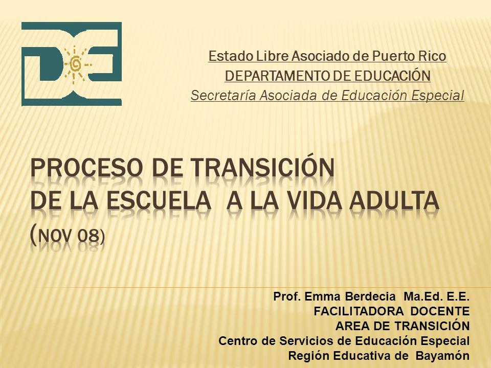 Proceso de Transición de la escuela a LA vida adulta (nov 08)