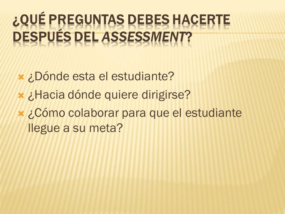 ¿Qué preguntas debes hacerte después del assessment