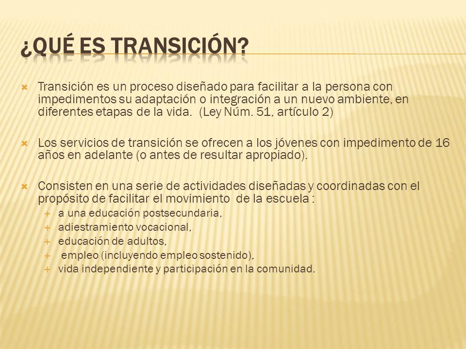 ¿Qué es transición