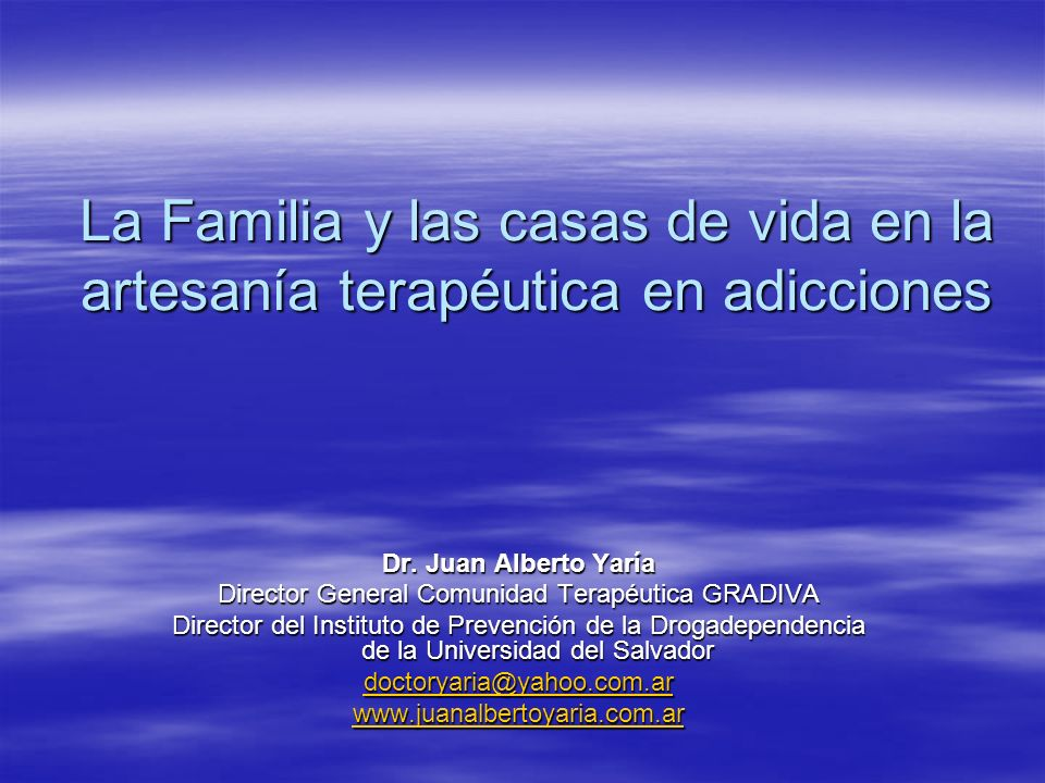 Director General Comunidad Terapéutica GRADIVA